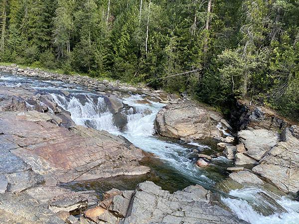 Yaak Falls in Troy Montana